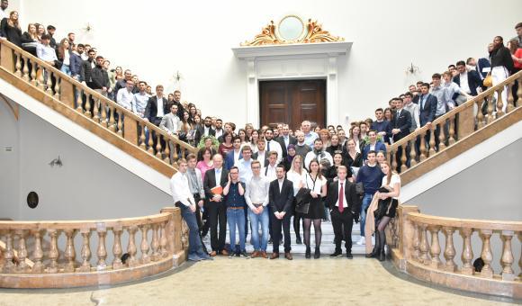 Visite de l'Académie de Sciences Économiques de Bucarest