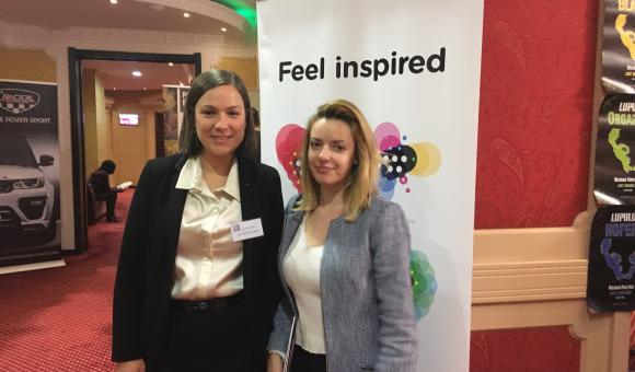 Anne Defourny, l'Attachée économique et commerciale de l'AWEX et de Bruxelles Invest & Export (BIE) pour la Roumanie et la République de Moldova (à gauche)